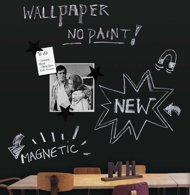 Chalkboard Magnet Wallpaper 2 - Krijtbord Behang