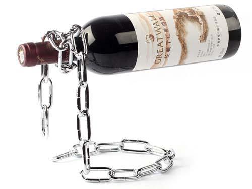 weinflaschenhalter kette magic chain wine holder. Black Bedroom Furniture Sets. Home Design Ideas