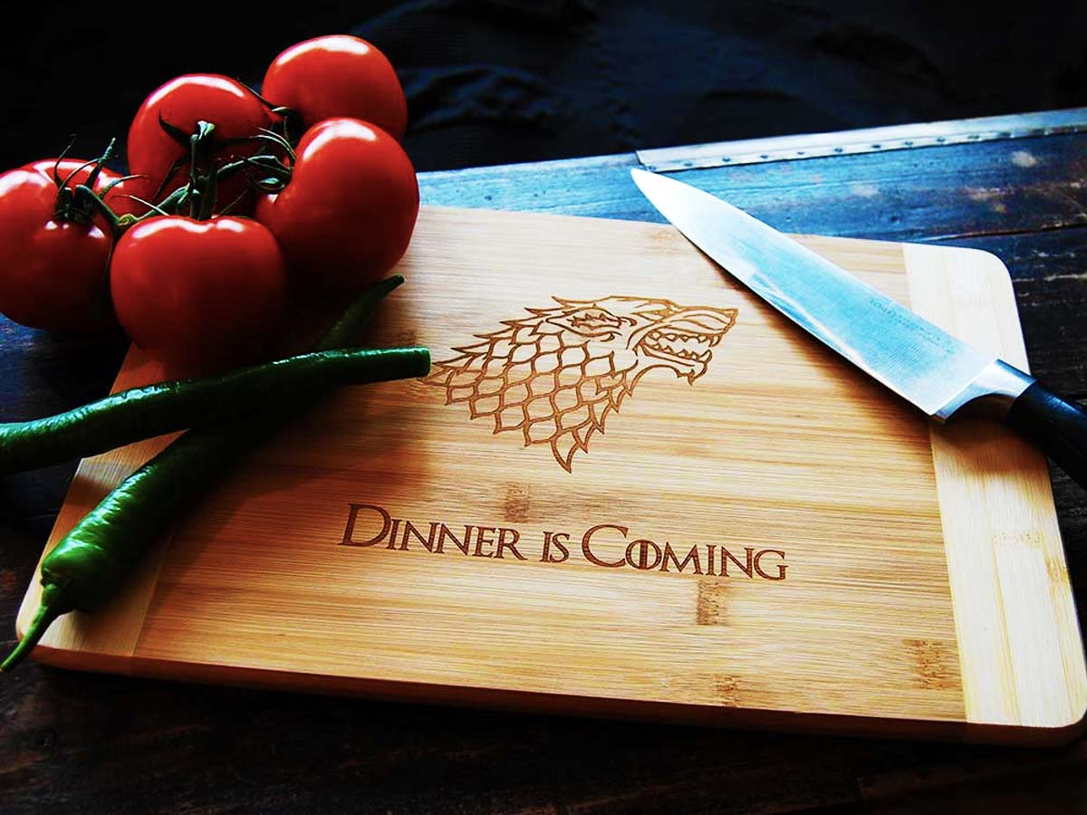 Dinner is Coming Snijplank