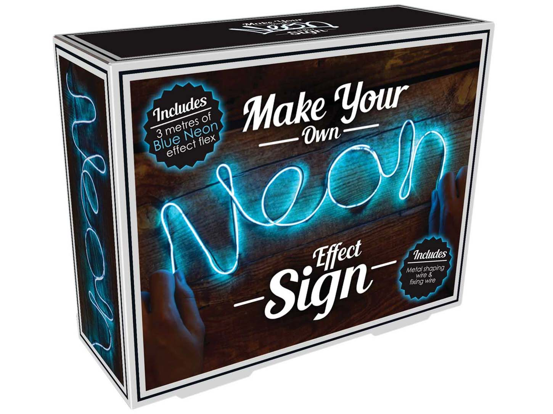 DIY Neon Sign Blue