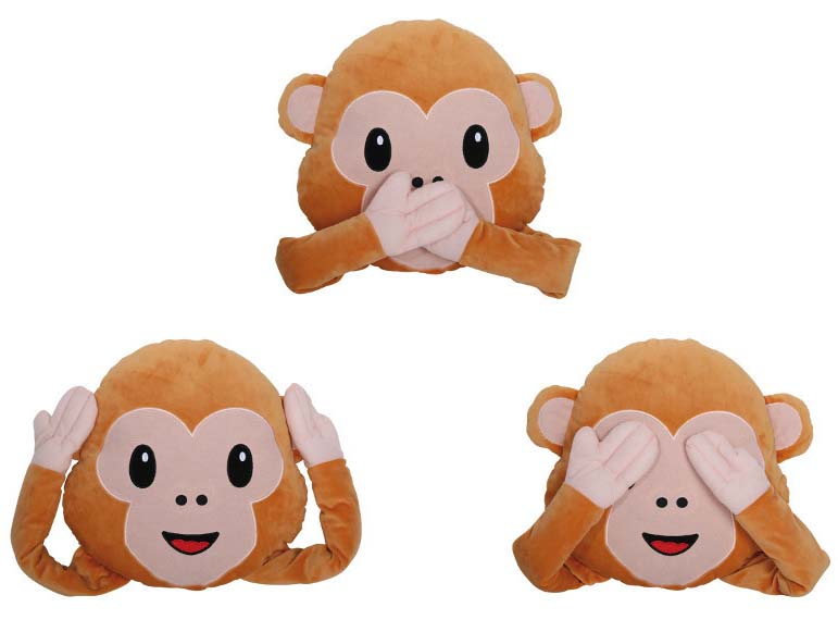 Emoticon Pillow Monkey 3c1abdbf8
