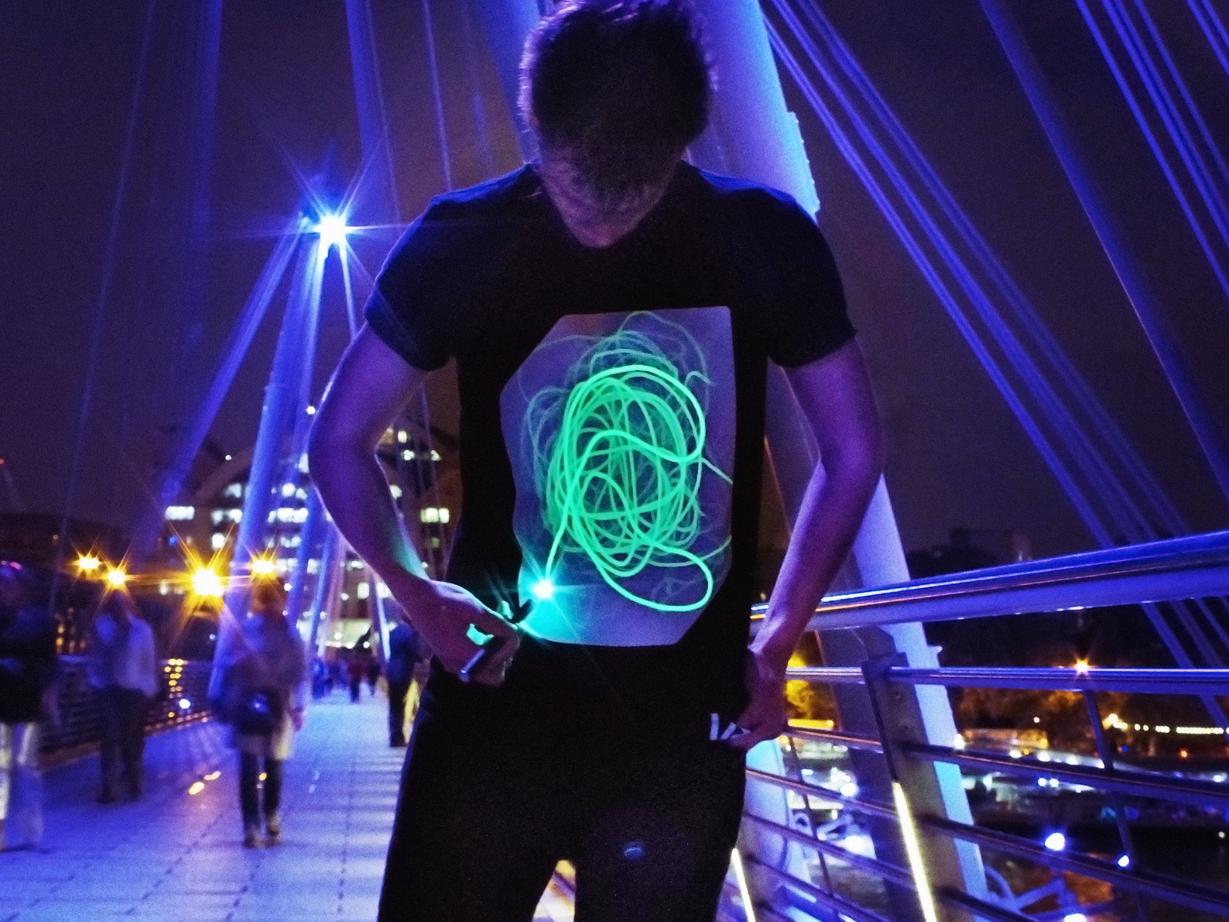 ba355f296cc Interactive Glow T-Shirts Large