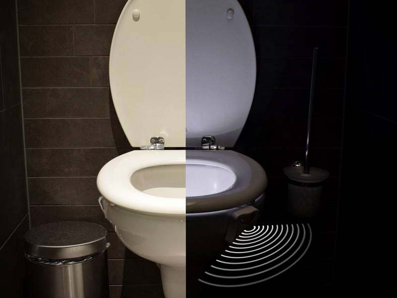 led toilet light lumi re led pour wc. Black Bedroom Furniture Sets. Home Design Ideas