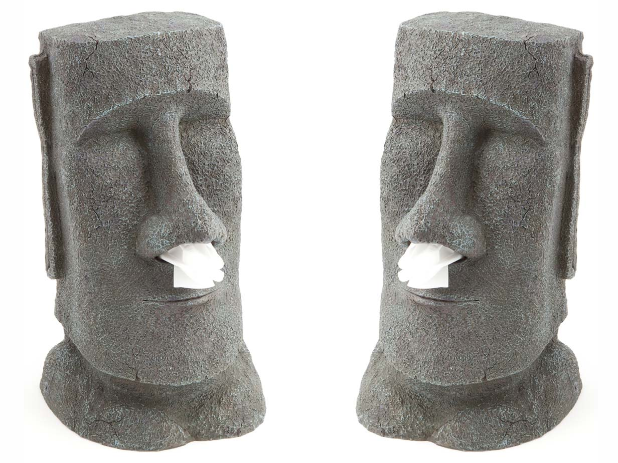 Populair Moai Tissue Holder | Tiki Tissue Dispenser Box Houder Kopen @JT44