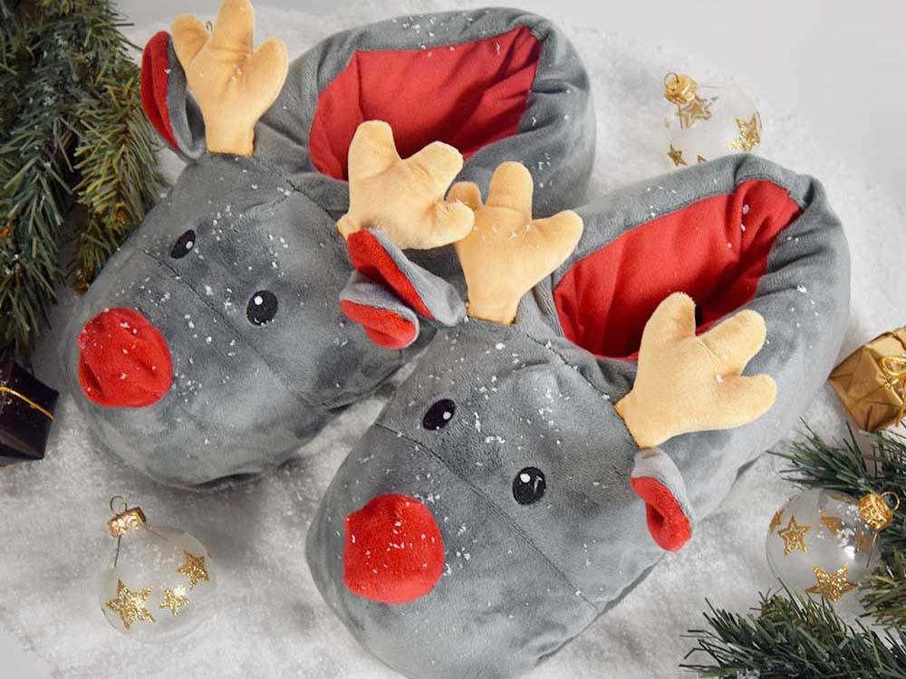 Rudolph Rendier Sloffen Reindeer Slippers Pantoffels Kopen