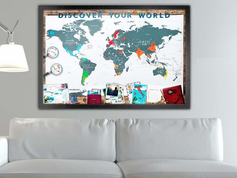 carte du monde gratter deluxe scrape map world edition. Black Bedroom Furniture Sets. Home Design Ideas