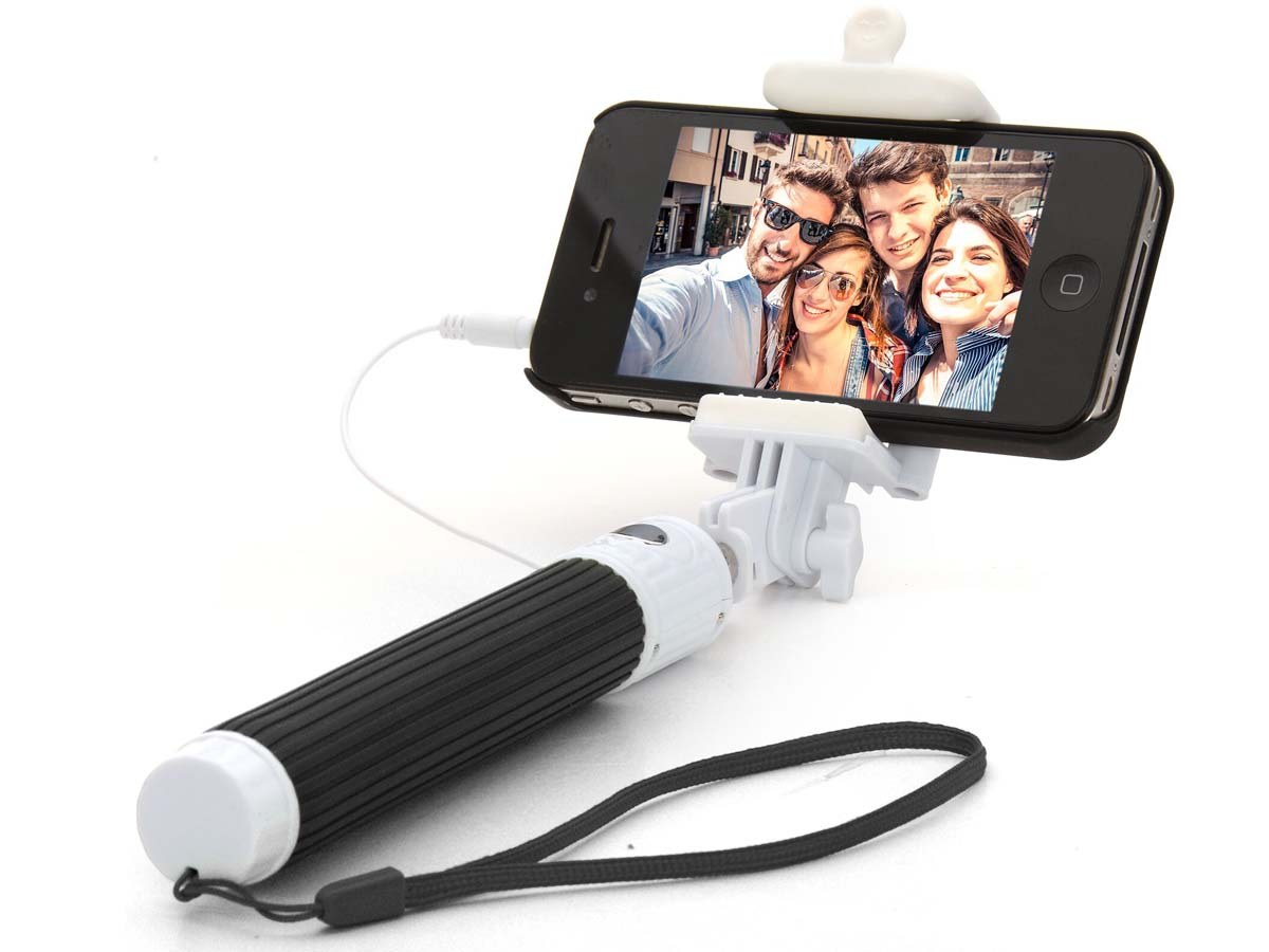 wired pocket selfie stick pocket selfie stick mit kabel. Black Bedroom Furniture Sets. Home Design Ideas