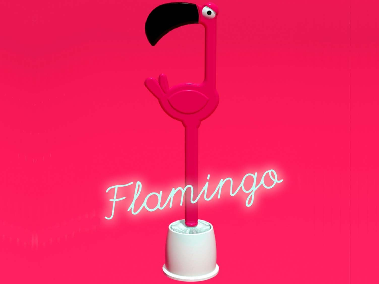 Toiletborstel Flamingo