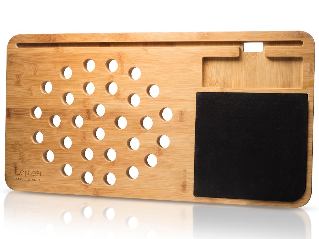 mobile lap desk wooden laptop tablet holder rh coolgift com wooden lap desk with cushion wooden lap desk diy
