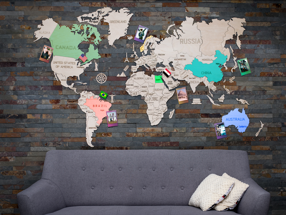 Wooden world map 120x80cm wooden city world map wooden world map 120x80cm wooden world map 120x80cm gumiabroncs Gallery