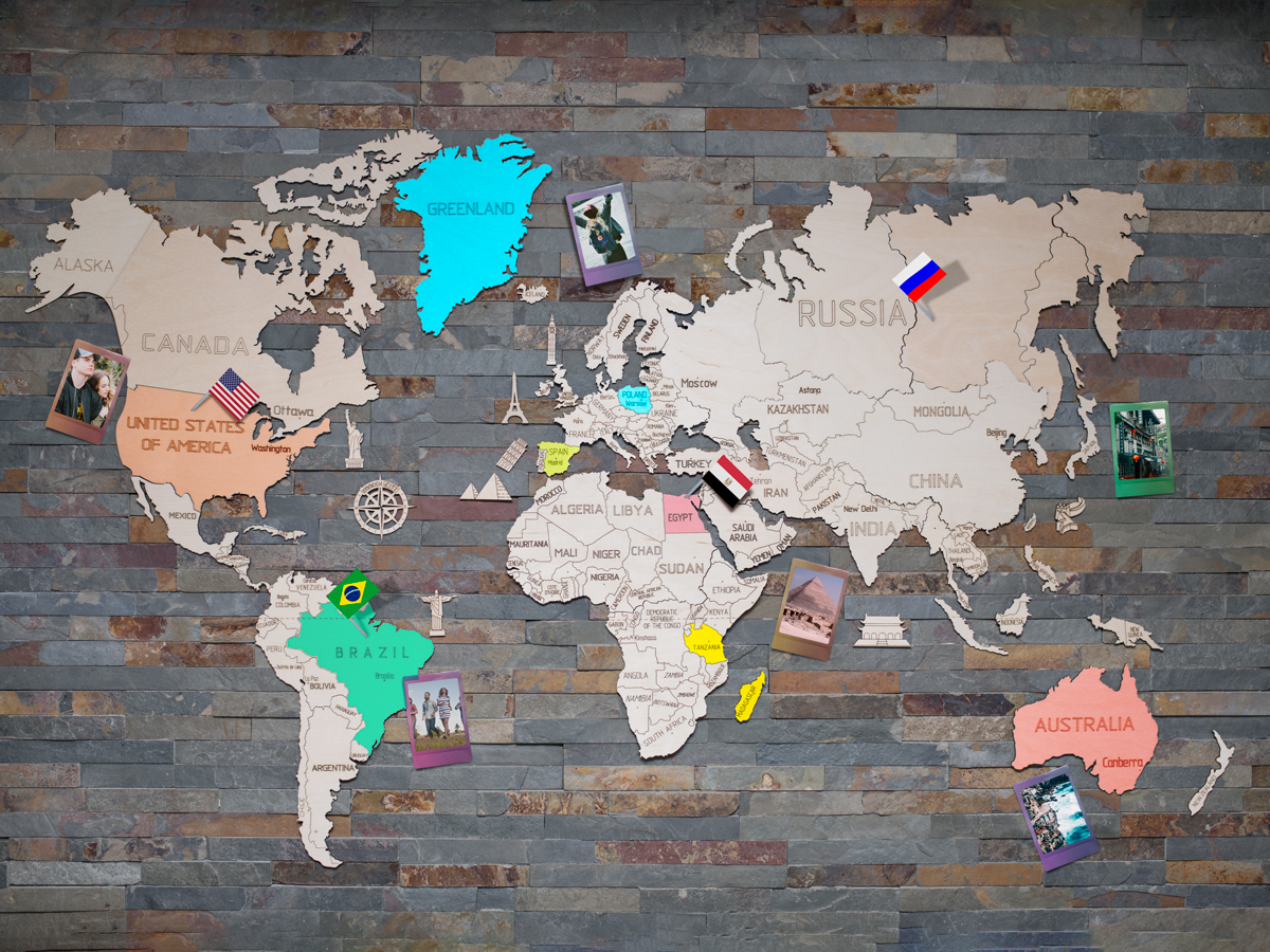 Wooden world map 120x80cm wooden city world map wooden world map 120x80cm gumiabroncs Gallery