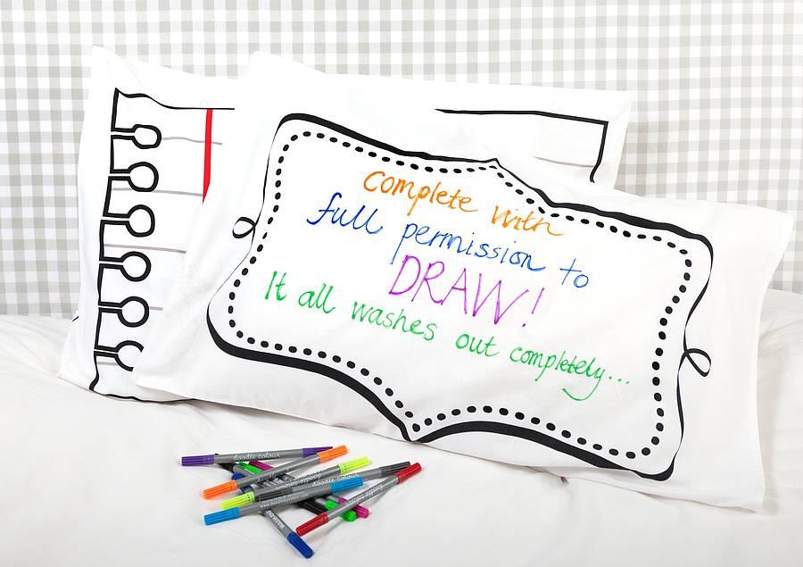Design Your Own Pillowcase Beauteous DIY Pillowcase Doodle Pillowcase