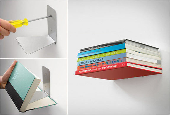 Conceal Boekenplank Umbra : Schwebendes bücherregal invisible bookshelf