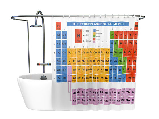 Table shower curtain periodic table shower curtain urtaz Image collections