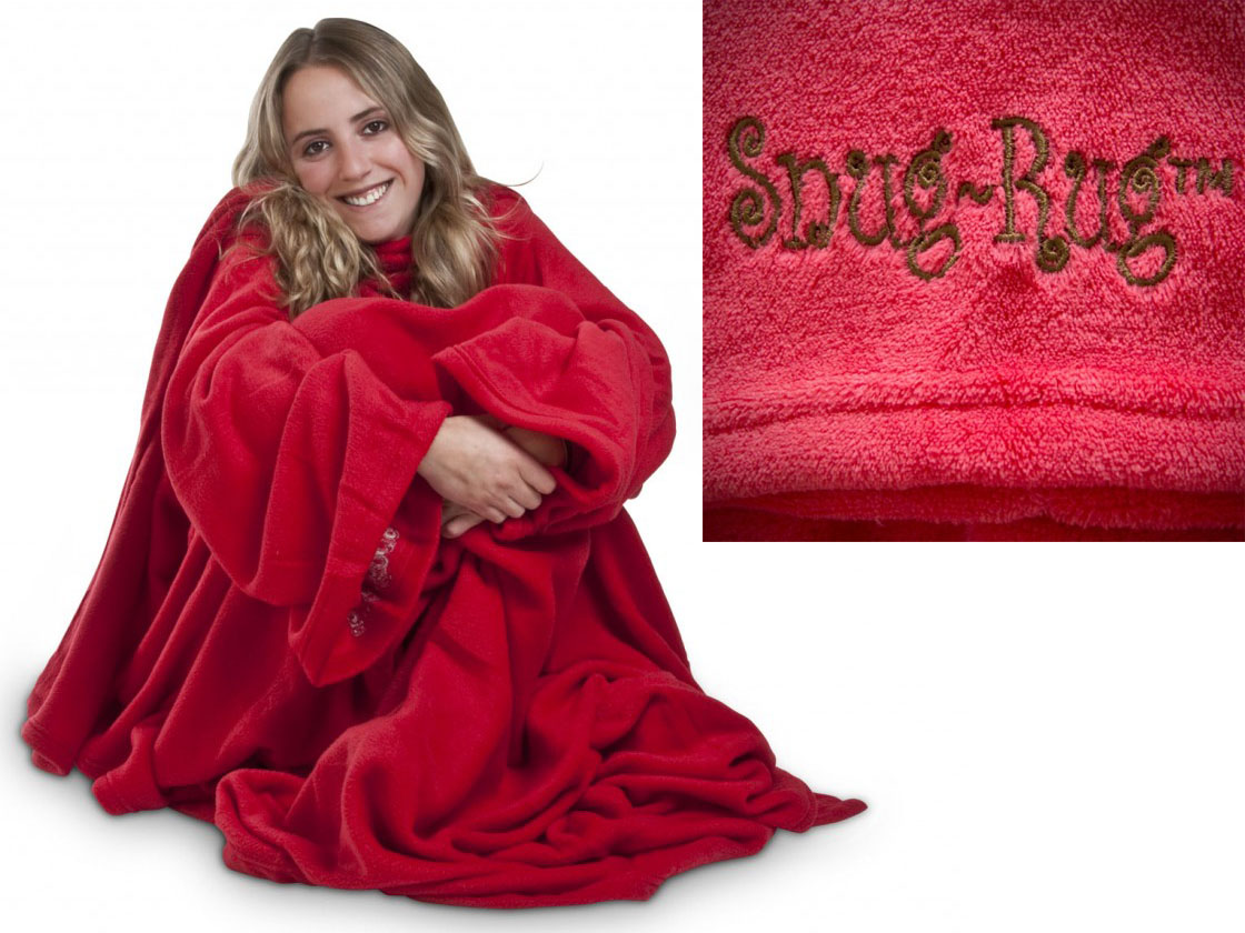 Tv Fleece Deken.Snug Rug Deluxe Coral Fleece Blanket Red Deluxe