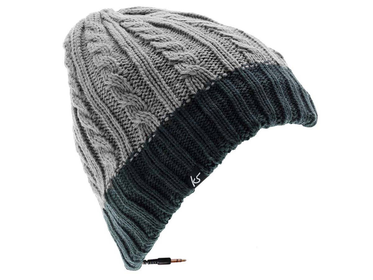 bonnet mp3 ecouteurs ihat bonnet musical. Black Bedroom Furniture Sets. Home Design Ideas