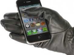Gants en cuir pour écran tactile