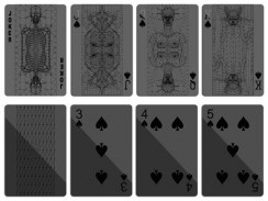 Black Design Playing Cards