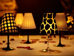 6 Wineglass Lampshades