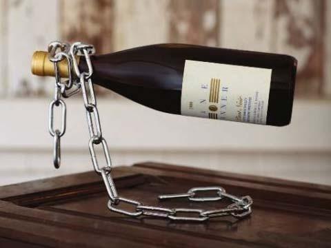 Portebouteille Chaîne - Porte bouteille de vin