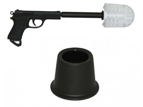 Wipe Out Gun Toilet Brush