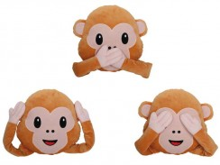 Coussin Emoticon Singe