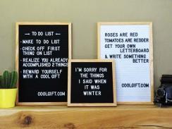 Letter Board (Cadre en Bois)