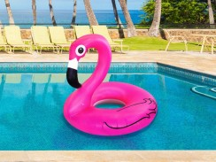 Inflatable Flamingo Swim Ring