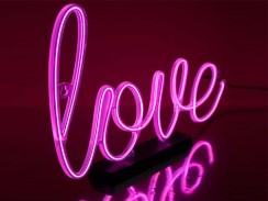 Neon Effect Love Lamp