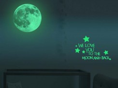 Glow in the Dark Moon Wall Sticker