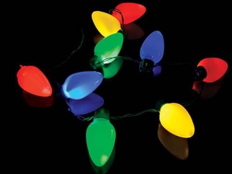 Kerstlampjes Halsketting