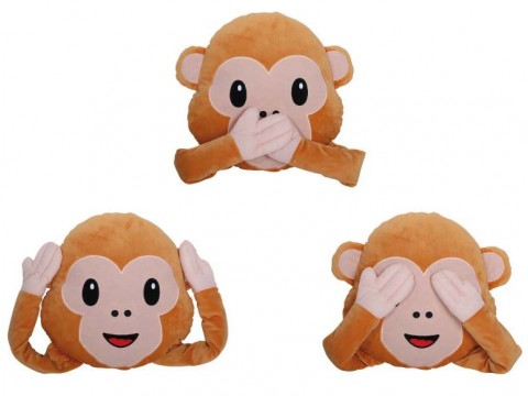 Emoticon Pillow Monkey