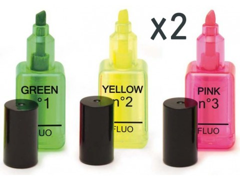 Design Highlighter (3 pairs)