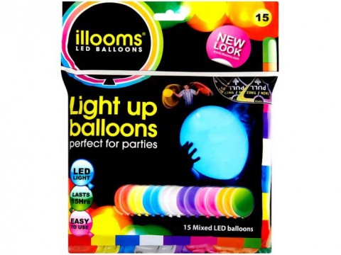 LED Luftballons 15er Set