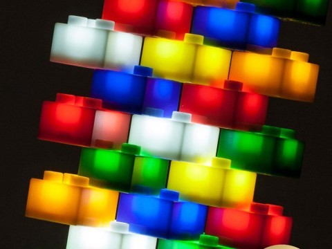 Light Stax - leuchtende LED Bausteine