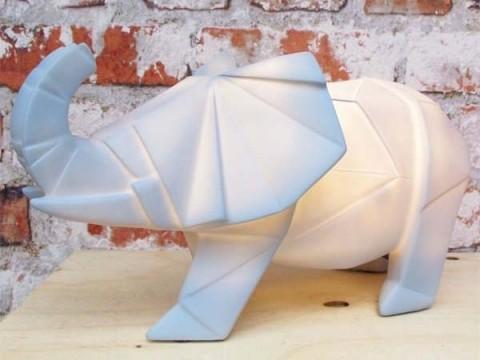 Olifant Origami Lamp