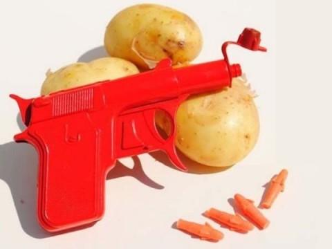 Metal Potato Gun