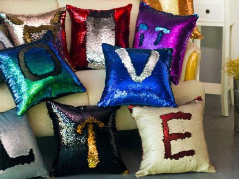 Sequin Pillow Cover Mermaid