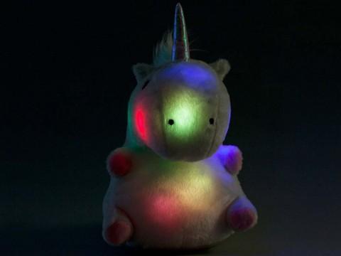 Leuchtendes Einhorn Kissen