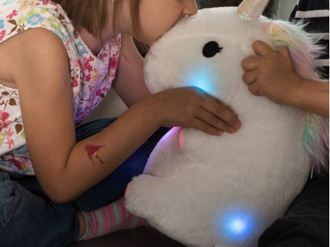 Coussin Lumineux Licorne