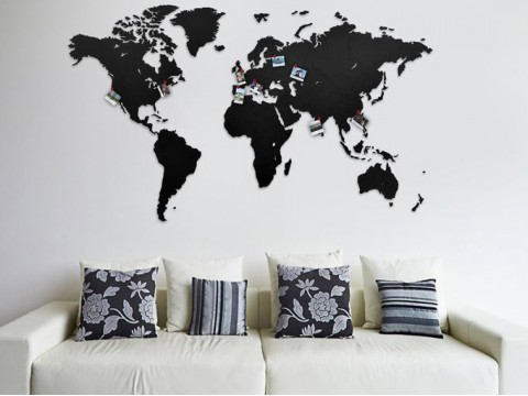 Luxury Wooden World Map